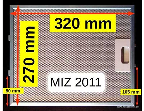 Metall-Fettfilter 320 x 270 (z.B. für Respekta MIZ 2011, PKM MF02)