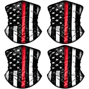 4 Pack American US Flag Face Bandana Balaclava for Men Women, Sun UV Dust Protection Reusable Washable Half Mask Scarf, Cooling Cloth Neck Gaiter Headwear for Cycling, Hiking, Fishing, Motorcycle-2