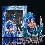10Cm Anime Dragon Ball Z Super Saiyan Vegeta Figura PVC Figuras De Acción Modelo De Juguete