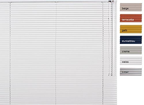 Basix aluminium jaloezieën - kleur: wit - 85 x 175 cm (breedte x hoogte) - 25mm lamellen ~ restproducten ~ andere maten selecteerbaar