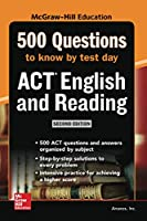 500 ACT English and Reading Questions to Know by Test Day (Mcgraw Hill's 500 Questions to Know by Test Day)