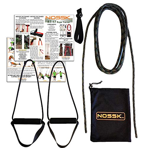 NOSSK RT-17 Rope Bodyweight Fitness Trainer (Camo), Manufactured in The USA, for Indoors and Outdoors - for All Ages and Fitness Levels