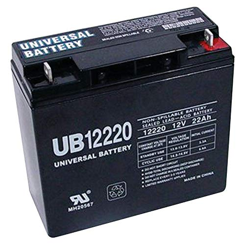 Universal Power Group 12V 22Ah SLA Battery Replaces CB19-12, ES1217, UB12200, LC-RD1217P