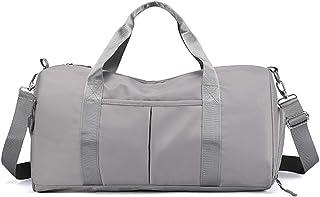 Azshara Damen Canvas Handtasche Segeltuch Taschen Schultertasche Damen Henkeltasche Reisetasche Sporttasche grau