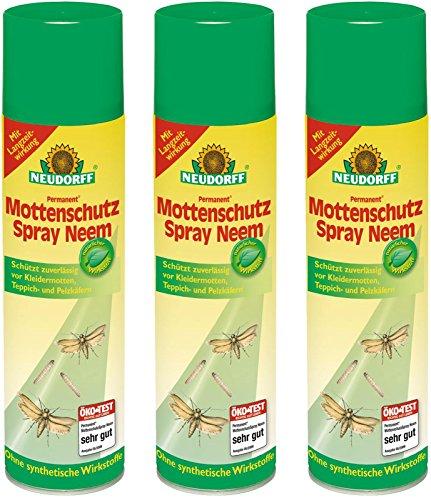 3 x 200 ml Neudorff Permanent MottenschutzSpray Neem
