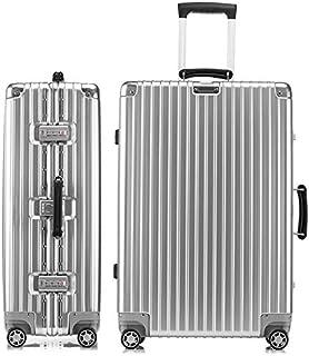 スーツケース アルミフレーム 軽量 キャリーケース 耐衝撃 キャリーケース 機内持込 キャリーバッグ 人気 大型 TSAロック付 静音 旅行出張 ヘアライン仕上げ 1年保証