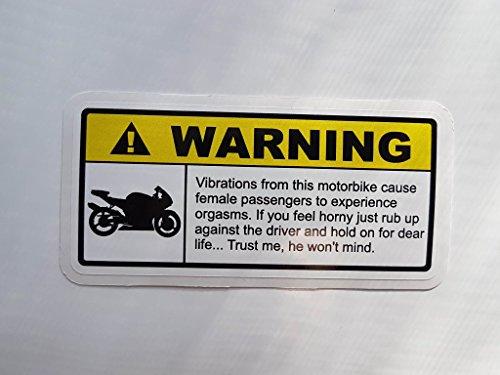 stickerpoint24 Warning Warnung Vibration Motorrad -Dub Tuning Aufkleber OEM STICKERBOMB Kult Bike Biker (Variante 3)