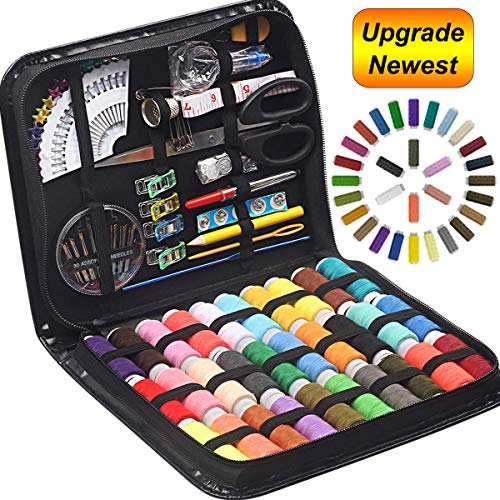 STURME Sewing KIT 30 XL Thread Spools Sewing Tool Kit with PU Case, Perfect for Home Travel and Emergency and Easy to Use for Everyone