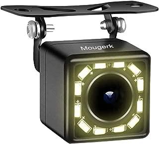 Car Rear View Camera, Mougerk Backup Camera 170 Degree Wide Angle Waterproof 12 LED Nigh Vision Lights Reverse Cameras for 12V Cars