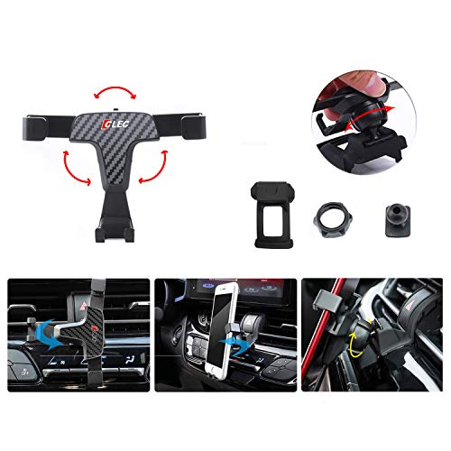 LFOTPP Telefoonhouder voor in de auto, 360 graden draaibare telefoonhouder, koolstofvezel gravity Phone Holder