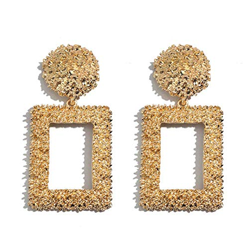 RONGW JKUNYU Novelty Stud Earrings Girls' Earrings Crystal Dangle Drop Earrings For Women Square Pendant Earrings Wedding Party Gifts Shiny Jewelry, Gifts