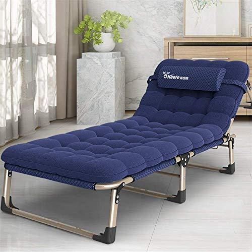 LLSS Portable Leisure Outdoor Metal Sun Lounger, Garden Deck Chair Folding Sunbed Folding Chairs Heavy
