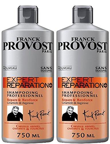 Franck Provost Expert Réparation+ Professionelles Shampoo Reparaturset & Renforce – 750 ml – 2 Stück