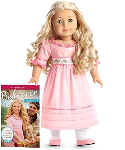 American Girl Caroline Doll Book and extra Caroline's Party Outfit