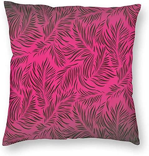 Throw Pillow Covers, Palm Trees Hawaiian Forest Tropic Island Leaves Ombre Artwork Image, Square Sofa Kissen Fällen Kissenbezüge 18 X 18 Zoll