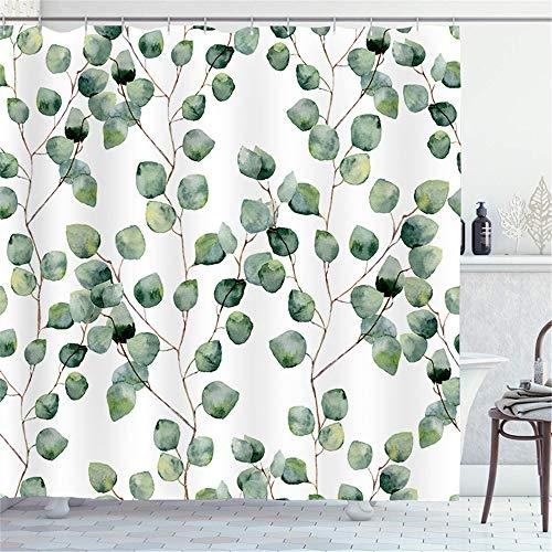 SONGHJ Polyester Duschvorhang Tropische Pflanze Serie Gedruckt Wasserdicht Duschvorhang Haushalt Duschabtrennung Vorhang