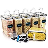 Large Cereal & Dry Food Storage Containers, Wildone Airtight Cereal Storage Containers for Sugar, Flour,...