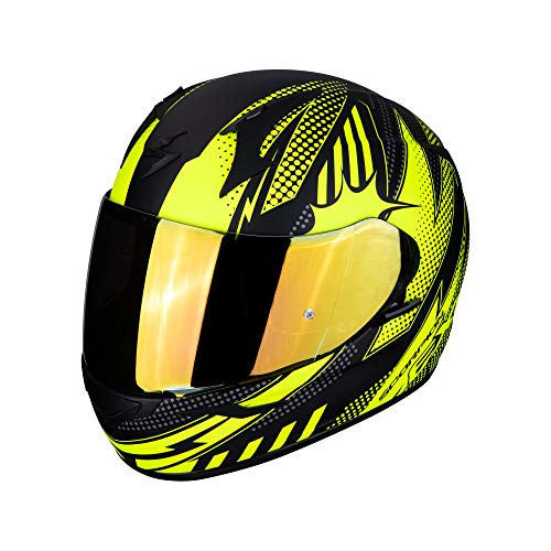 Scorpion NC Casque Moto Adulte Unisexe, Noir/Jaune, XL
