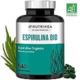 Espirulina Ecológica Suministro 6 Meses Complemento Alimenticio 540 Comprimidos 500mg Espirulina 100% BIO Vegano Ideal Deporte Y Fitness