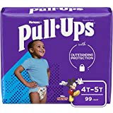 Pull-Ups Boys' Potty Training Pants Training Underwear Size 6, 4T-5T, 99 Ct, One Month Supply