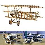 Fokker DR.I Flyer Kits de Modélisme, Maquette d'avion avec Bois de Balsa, Échelle 1/20, 358 mm d'envergure des Ailes, Kit modèle RC, 280 x 358 x 135 mm, découpé au Laser, Poids en vol 48 GR