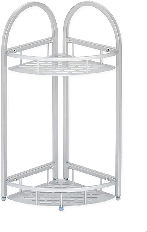 Bathroom Storage Shelf, Space Aluminum Standing Corner Shelves, Multifunction Shelving Units, Easy Inssizetion (Size   2 Tier)