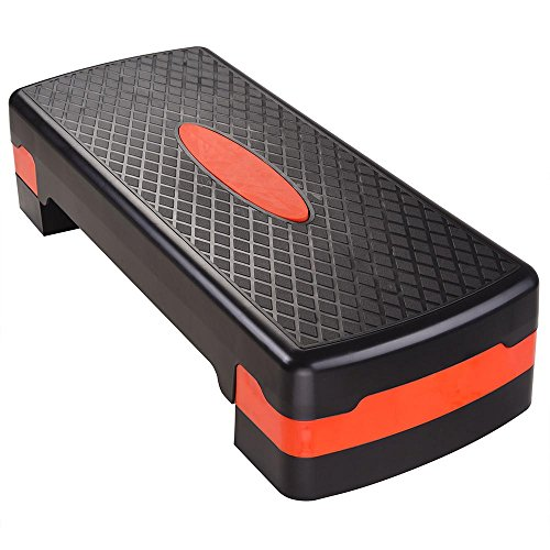 AW 26x11 Fitness Aerobic Stepper 4-6 Adjustable Stepper Platform Exercise Fitness Workout by AW