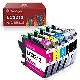 Toner Kingdom Cartucho de Tinta Compatible de Repuesto para Brother LC3213 LC3211 para Brother MFC-J890DW MFC-J895DW MFC-J497DW DCP-J772DW J572DW J774DW (5 Paquetes)