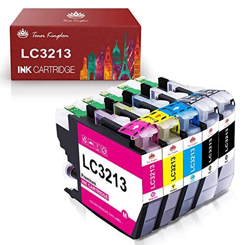 Toner Kingdom Austausch der Kompatiblen Tintenpatrone für Brother LC3213 LC3211 für Brother MFC-J890DW MFC-J895DW MFC-J497DW DCP-J772DW J572DW J774DW (5 Packungen)