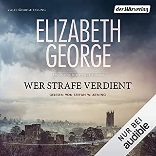 Wer Strafe verdient     Ein Inspector-Lynley-Roman 20              By:                                                                                                                                 Elizabeth George                               Narrated by:                                                                                                                                 Stefan Wilkening                      Length: 25 hrs and 38 mins     1 rating     Overall 5.0