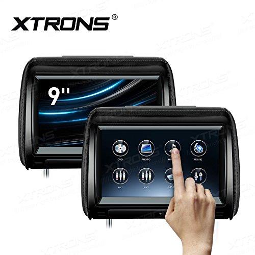 XTRONS 2 x 9 pollice Coppia Poggiatesta Auto Lettore DVD HD Digitale Regolabile Touch Screen 1080 P Video Auto Giochi HDMI