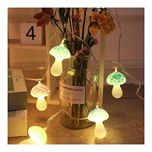 HYXQYDC Led Copper Wire String Lights, Mushroom Battery Operated Waterproof Portable Fairy Lights, for Indoor Outdoor Decorative Patio, Garden, Wedding, Pathway, Party (Color : 16.4FT 20LED-Plug in)