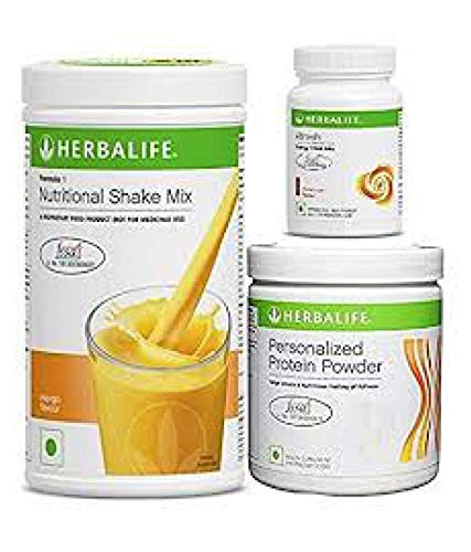 Herbalife Weight Loss Program Kit - Natural Organic Diet Meal Replacement Package for Men and Women - Nutritional Formula 1 Shake Mango - Herbal...