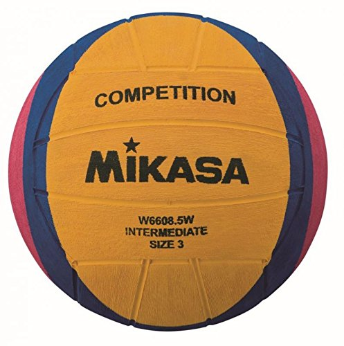 Mikasa W6608.5W Competition Intermediate Wasserball Waterpolo, Gelb/Lila/Magenta, 3