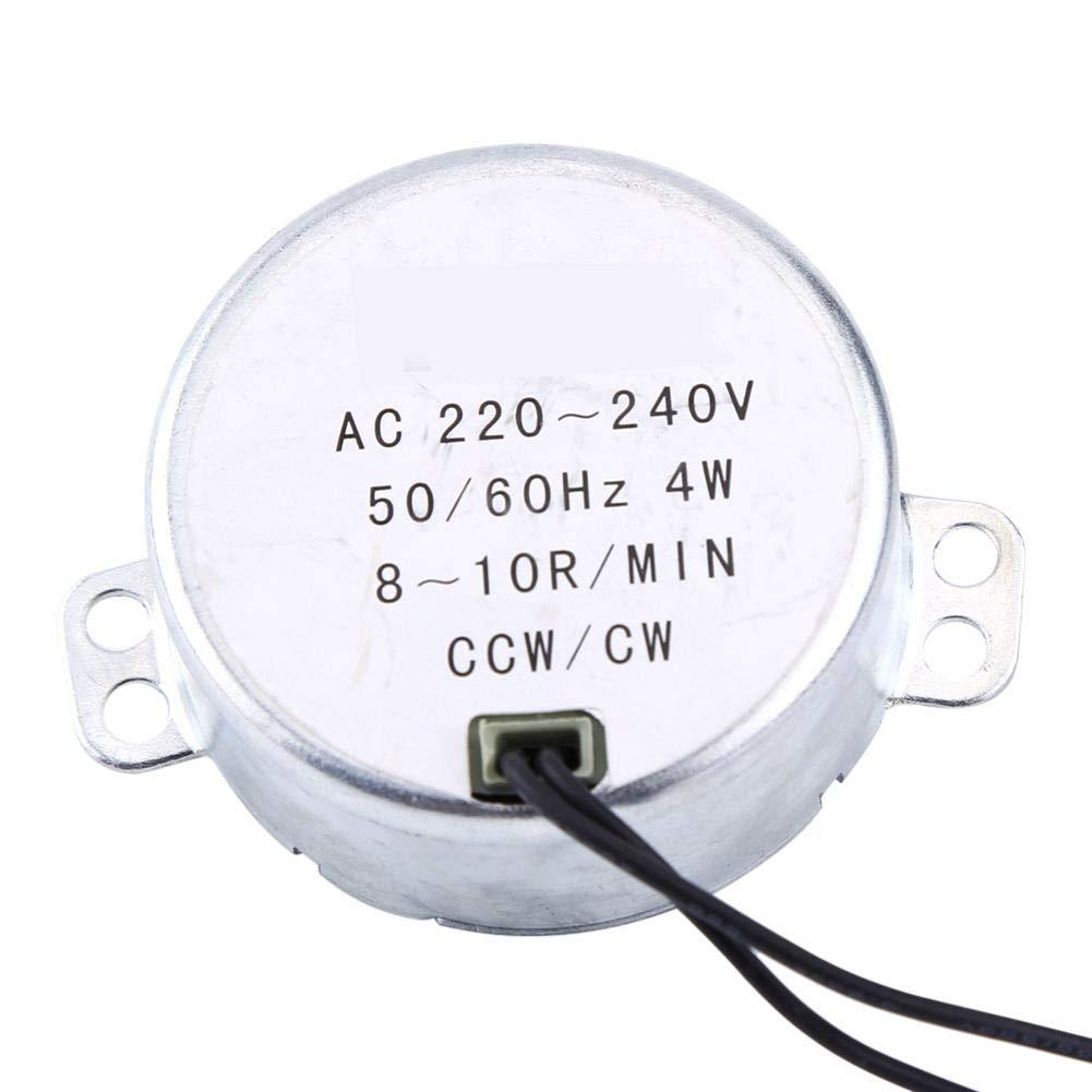 Motor síncrono, 1pc 220-240V CA 4W CW/CCW 4W 50 / 60Hz Motor engranado síncrono para mecanismo de ventilación de ventilador eléctrico, calentador(8-10RPM)