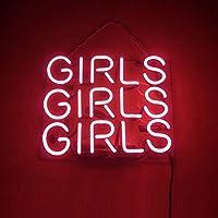 【PINK GIRLS GIRLS GIRLS】ネオン看板 ネオン管 NEON SIGNs ネオンサイン 看板 アメリカン雑貨