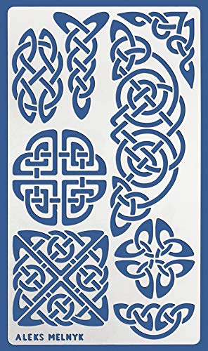Aleks Melnyk #37.2 Schablon/Metall Stencil Vorlagen for Painting/Keltischer Knoten/1 Stück/DIY Kunst Projekte/Stencil für Scrapbooking und Zeichnen/Brandmalerei Schablon/Basteln