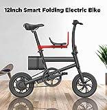 SHIJING Mini 36V 250W 6AH 12inch Intelligent Pliant vélo électrique 25 kmh Vitesse Max vélo électrique avec la Puissance...