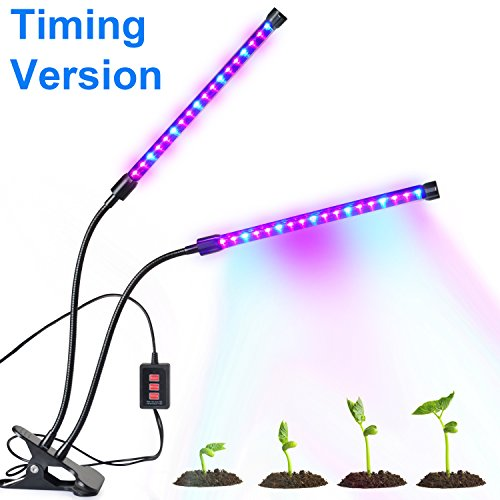 Led Grow Light 15W Plant Growing Lamp With Clip Tripple Head Flexible Full