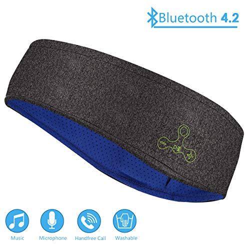 Yagosodee Washable Wireless Sports Headband with Ultra Soft Sleeping Headphones for Yoga Exercise Gym Running