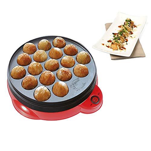 Wonepic Takoyaki Pan Haushaltselektro Takoyaki Maker für das Grillen Backen oder Dessert Making- Takoyaki Sandwiches Kuchen-Pop Red