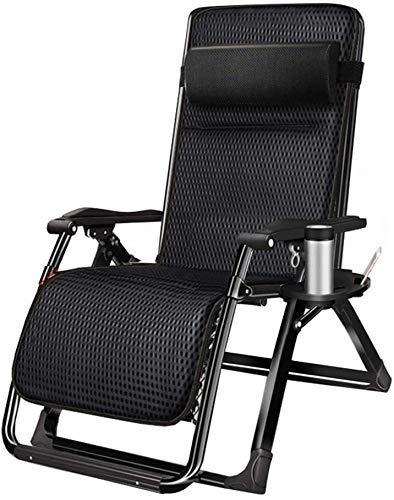 WDHWD - Sillón reclinable, reclinable al aire libre, silla reclinable plegable de exterior, tumbona de playa, sillón individual acolchado, silla reclinable plegable