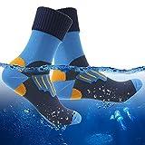 RANDY SUN Mud Sports Socks, High Waterproof Warm Summer Socks for Men Hiking Trail Running Socks Dad Gifts 1 Pair (Blue,Large)