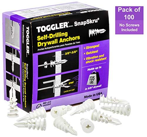 Toggler Gipskartondübel SP (für Plattenstärke 9,5-15 mm, selbstbohrender Dübel, Schrauben-ø 3,5-4 mm, 100 Stück) 30011