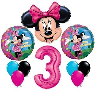 Minnie Mouse #3 3rd Third Happy Birthday Balloon Party Set Mylar Latex Disney by Anagram