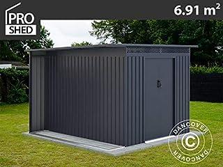 Dancover Caseta de jardín ProShed con saliente, 2,57x2,69x1,87m,