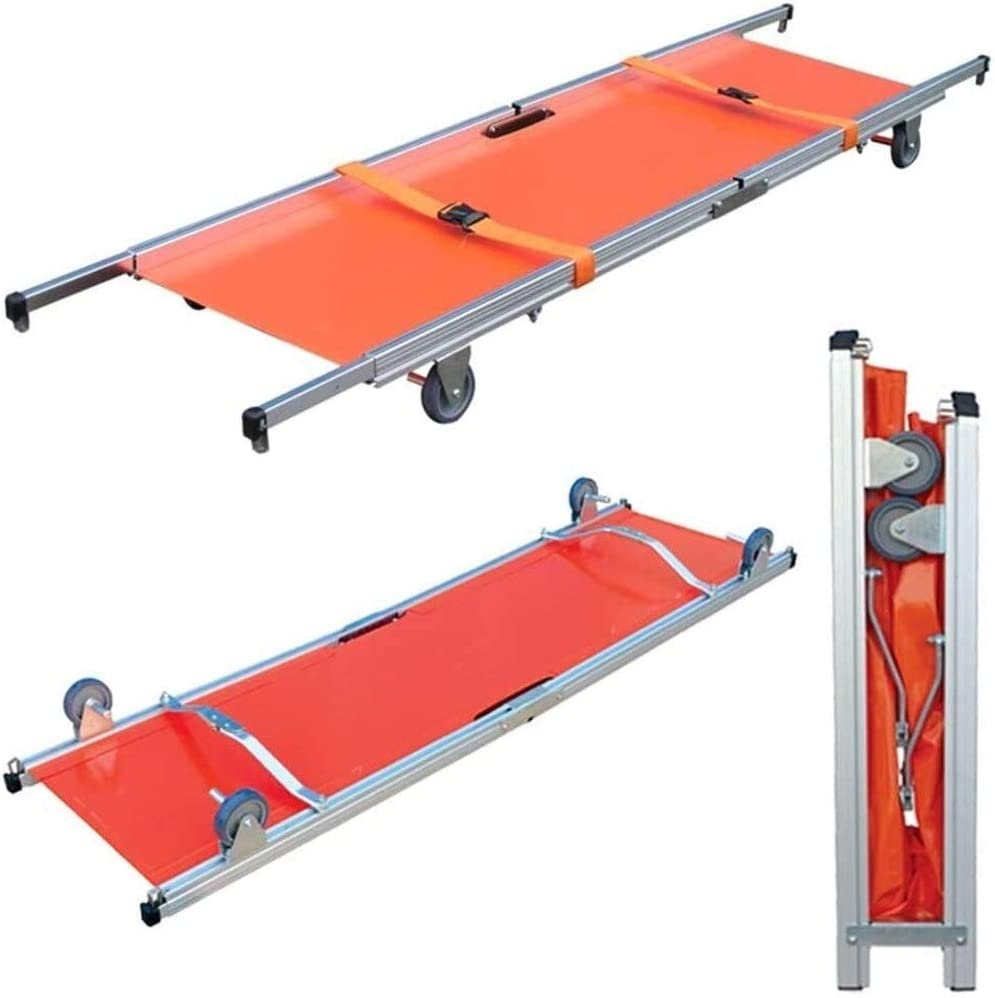TONGSH Fold Aluminum Stretcher W/Handles  Carrying Case for Hos