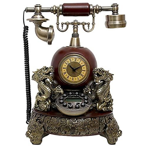 DIHAO Teléfono Fijo Retro, Teléfono Retro Teléfono Fijo Antiguo Europeo Moda Hogar Creativo Oficina Fija (Color: Amarillo)