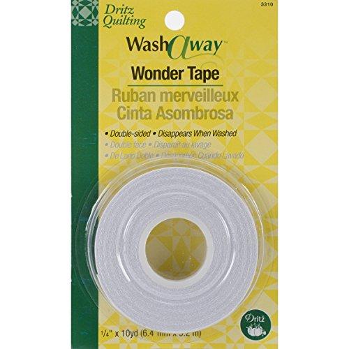 Dritz 3310 Wash-A-Way Wonder Tape, 1/4-Inch x 10-Yards