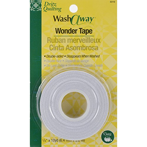 Dritz Tape Quilting washaway Wonder Tape-.25-inch X 10yd